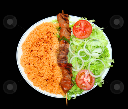 Fast-food stock photo, Plat of meat skewers by Sinephot