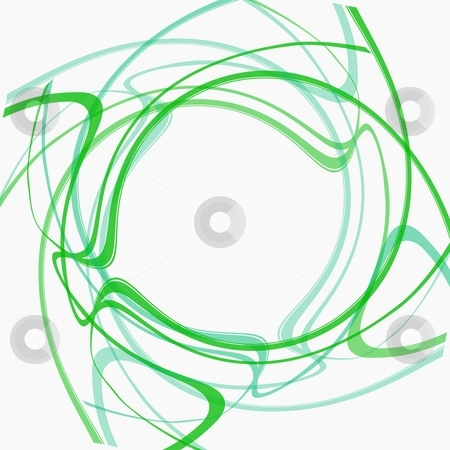 Round frame stock photo, Artistic green circular lines frame photo background by Milsi Art