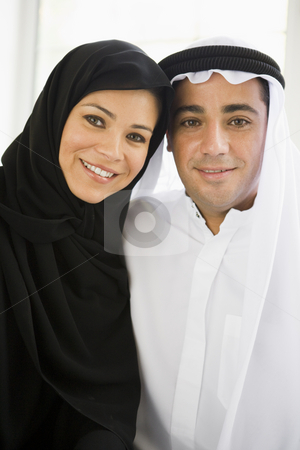 Portrait of a Middle Eastern couple stock photo,  by Monkey Business Images