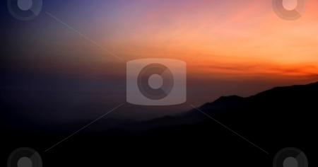 Sunset stock photo, Beautiful sunset color landscape north of Santa Barbara. by Henrik Lehnerer