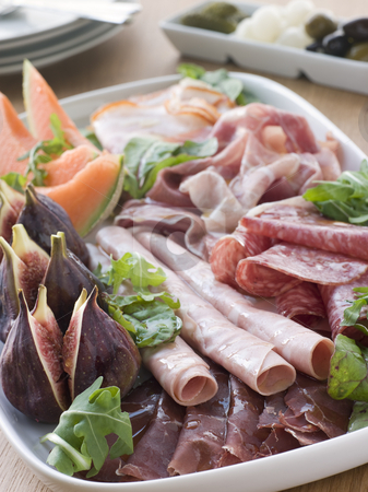Platter of Affettati Misti stock photo,  by Monkey Business Images
