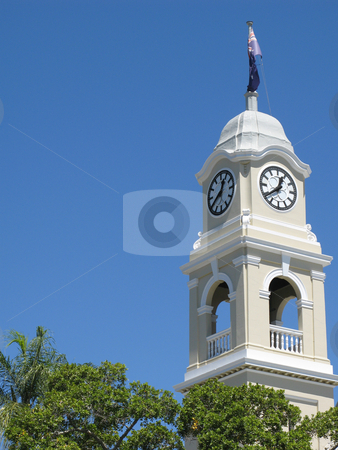 Cityhall clock stock photo, Close up on the cityhall clock tower, maryborough, QLD by Stephen Gibson