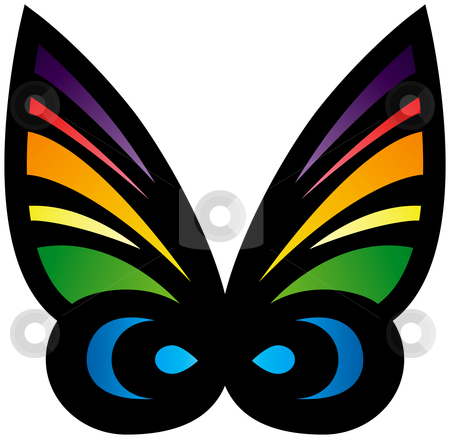 Colorful Stylized Butterfly stock vector clipart, Colorful Stylized Butterfly by Adrian Sawvel