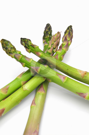 Fresh Asparagus stock photo, Asparagus spears on a light background by Lynn Bendickson