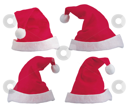 Santa Hats stock photo, Santa Hats by James Rooney