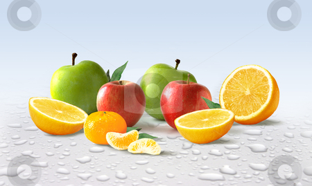 Apples & Oranges stock photo, Apples & Oranges by James Rooney