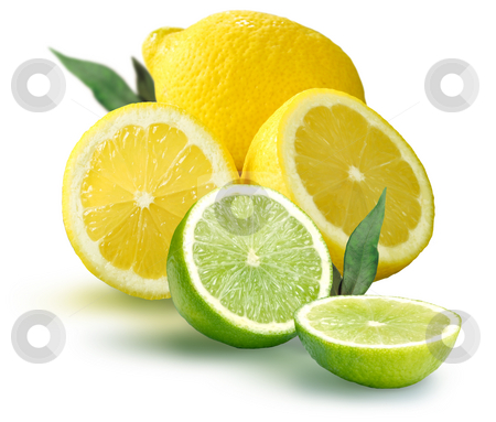 Fresh Fruit stock photo, Fresh Lemons and Limes by James Rooney