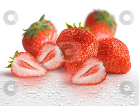 Fresh Strawberries stock photo, Fresh Strawberries with water droplets by James Rooney