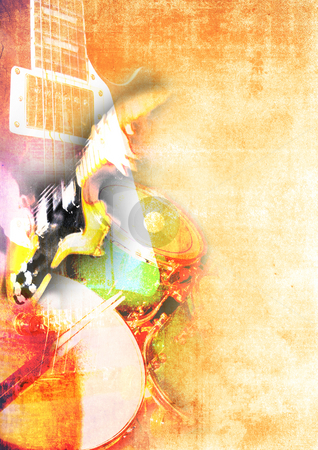 Rock Music Poster Background stock photo, Rock Music Poster Background by James Rooney