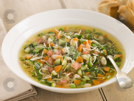 Bowl of Pistou Soup stock photo,  by Monkey Business Images
