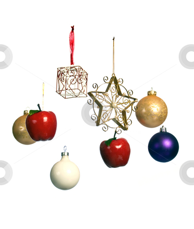 Christmas ornaments suspended in mid-air stock photo, Unusual Christmas ornaments by RCarner Photography