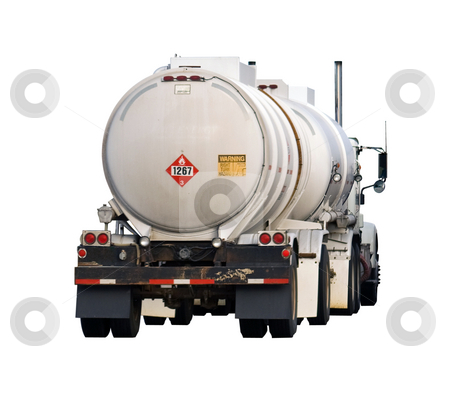 Crude oil transport stock photo, Truck and a pup or