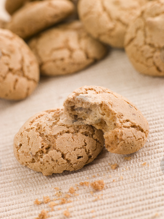 Amaretti Biscuits stock photo, Pile of Amaretti Biscuits by Monkey Business Images