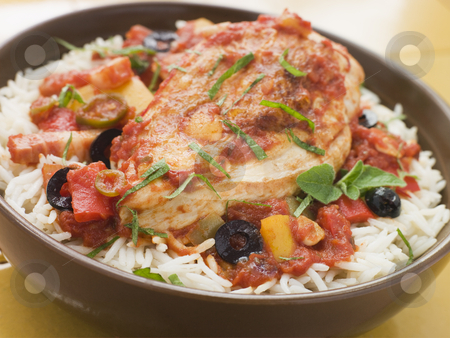 Spanish-Style Chicken and Rice stock photo,  by Monkey Business Images
