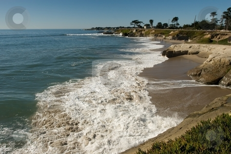 Santa Cruz stock photo, Pacific coast beach in Santa Cruz, California by Mariusz Jurgielewicz