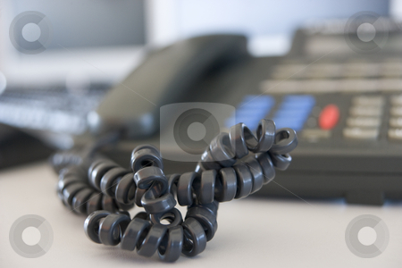 Shot of a telephone cord stock photo,  by Monkey Business Images