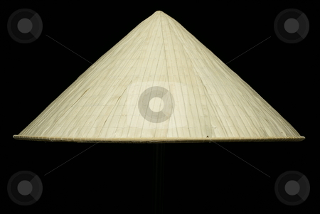 Vietnamese hat isolated on black  stock photo, Vietnamese hat isolated on black background by Wong Chee Yen
