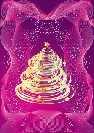 Christmas foliage stock photo, Christmas or New Year design, illustration by Milsi Art