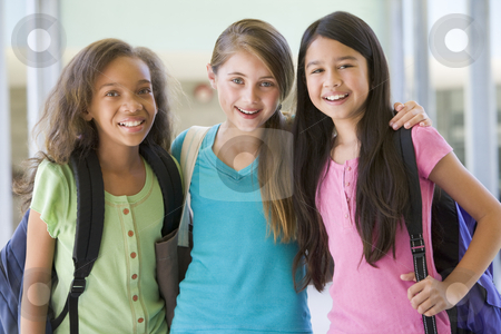 Group of elementary school friends stock photo, Group of female elementary school friends by Monkey Business Images