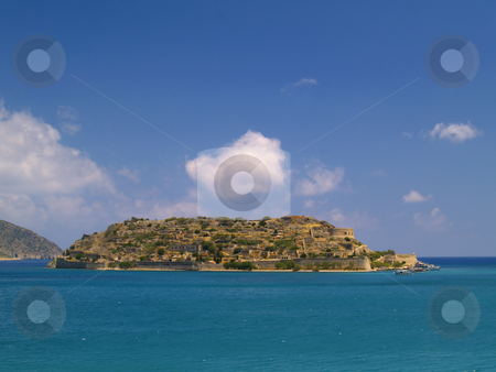 Spinalonga island stock photo, Spinalonga island at the cretan coast, greece by Torsten Lorenz