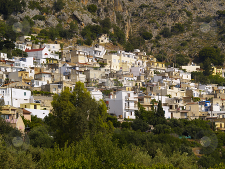 Kritsa stock photo, Little town of Kritsa in cretan mountains by Torsten Lorenz