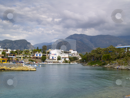 Sissi stock photo, View of the harbor of sissi, crete, greece by Torsten Lorenz