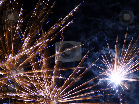 Fireworks display stock photo, Fireworks display closeup by Torsten Lorenz