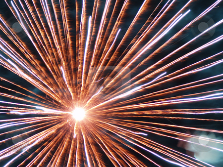 Fireworks dispay stock photo, Fireworks display closeup by Torsten Lorenz