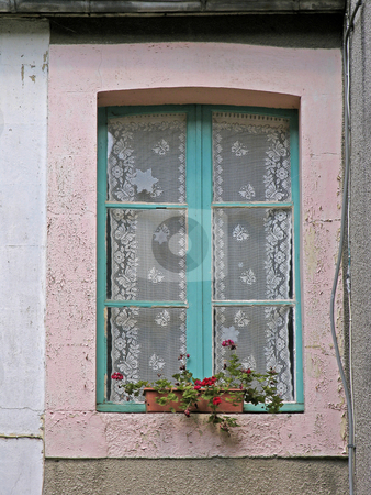Dol-de-Bretagne, green window, Brittany, Northern France stock photo, Dol-de-Bretagne, green window, Brittany, Northern France by Lothar Hinz