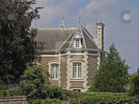 Villa, Brittany, Northern France stock photo, Dol-de-Bretagne, Villa, Brittany, Northern France by Lothar Hinz