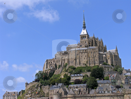 Le Mont-Saint-Michel, Monastery complex, Normandy, Northern France stock photo, Le Mont-Saint-Michel, Monastery complex, Normandy, Northern France by Lothar Hinz