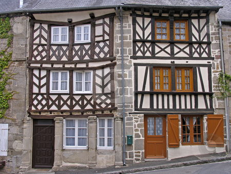 Moncontour, Timber-framed house in Brittany, Northern France stock photo, Moncontour, Timber-framed house in Brittany, Northern France by Lothar Hinz