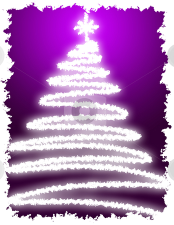 Artistic Christmas Tree stock photo, Artistic Christmas Tree with Purple Background Gradation by Andy Dean