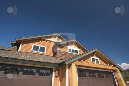 Colorful New Home Construction stock photo, Colorful New Home Construction Abstract by Andy Dean