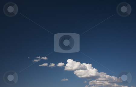 Dramatic Clouds and Deep Blue Sky stock photo, Dramatic Clouds on a Deep Blue Sky. by Andy Dean