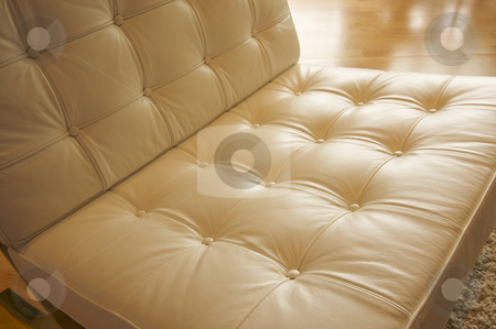 Leather Chair Abstract stock photo, Comfortable Leather Chair Abstract by Andy Dean