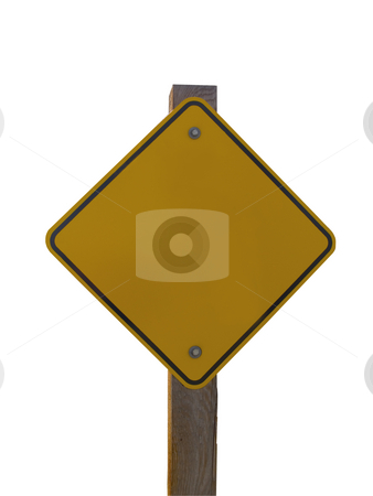 Sign Post Template stock photo, An isolated sign post template. by John McLaird