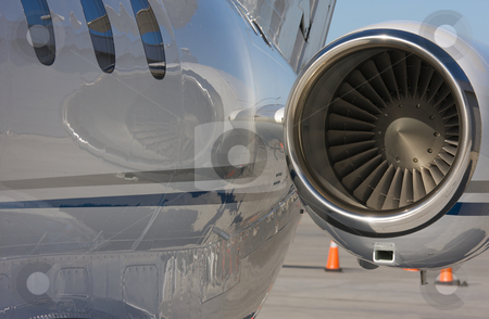 Private Jet Abstract stock photo, Private Jet and Engine Abstract by Andy Dean
