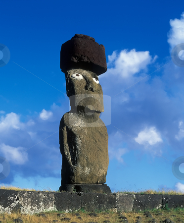 Easter island stock photo, Monument on famous Easter island by Seregey Korotkov