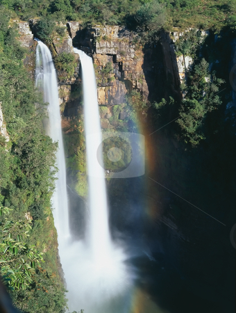 Mountains waterfall stock photo, Mountains waterfall in South Africa by Seregey Korotkov
