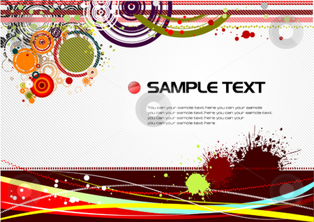 Grunge hi-tech background stock vector clipart, Grunge hi-tech background. Vector illustration by Leonid Dorfman