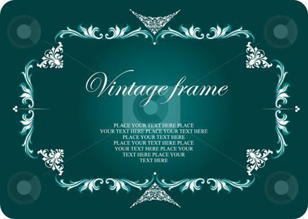 Vintage frame stock vector clipart, Vintage frame vector illustration by Leonid Dorfman