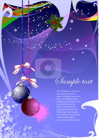 Abstract Christmas background  stock vector clipart, Abstract Christmas background vector illustration by Leonid Dorfman
