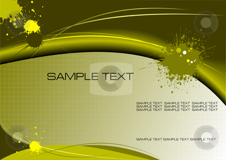 Grunge background stock vector clipart, Green and Yellow grunge background by Leonid Dorfman