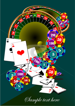 Casino elements stock vector clipart, Casino elements vector illustration by Leonid Dorfman