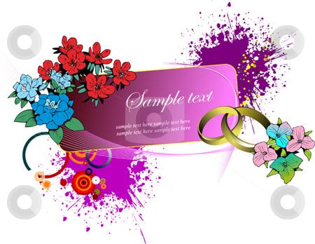 Wedding or Valentine`s day card stock vector clipart, Wedding or Valentine`s day card. Vector illustration by Leonid Dorfman