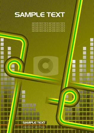 Cover for brochure stock vector clipart, Cover for brochure or template office folder by Leonid Dorfman