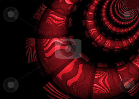 Inca tunnel stock photo, Inca style markings on an abstract tunnel design by Michael Travers