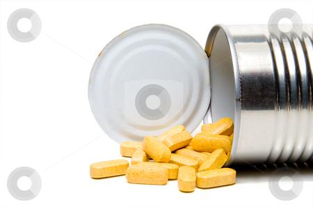 Prescription Medication stock photo, A tin can full of prescription medications. by Robert Byron
