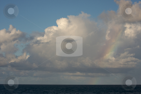 Dramatic Clouds over Tropical Shoreline stock photo, Dramatic Clouds over Tropical Shoreline on Kauai, Hawaii by Andy Dean